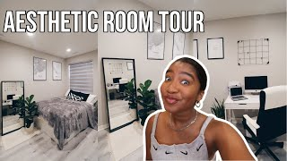 My 2020 Room Tour | Small Room Black & White Aesthetic