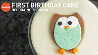 1st Birthday Cake Ideas | Fondant Cake Decorating Tutorial