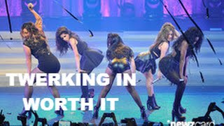 Fifth Harmony twerking in 'Worth It'.