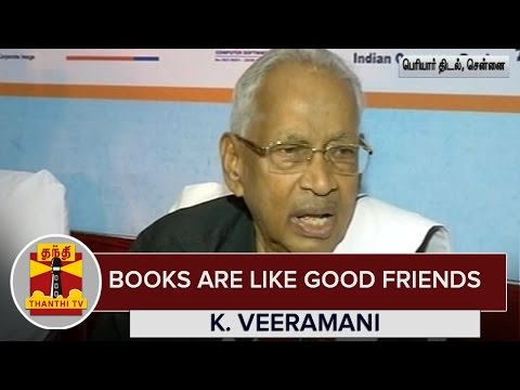 Books-are-Like-Good-Friends--K-Veeramani-Dravidar-Kazhagam--Thanthi-TV