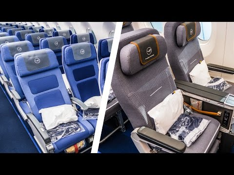 Economy Class VS. Premium Economy Class  |  WHAT'S THE DIFFERENCE? | Lufthansa Airbus A350-900XWB Mp3