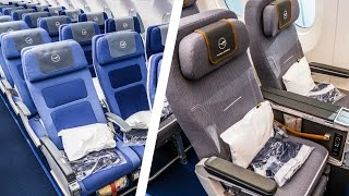 Economy Class VS. Premium Economy Class  |  WHAT'S THE DIFFERENCE? | Lufthansa Airbus A350 900XWB