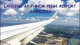 FLY THAI LANDING AT PHNOM PENH AIRPORT, CAMBODIA