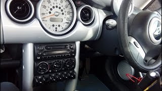 BMW Mini how to remove / upgrade radio 2000 - 2008 simple step by step guide.