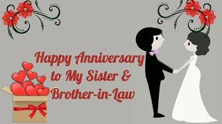 Happy Anniversary to my Sister and Brother-in-law (Anniversary Video) - Short Status