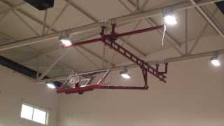 Ceiling Suspended Forward Folding Basketball Backstop