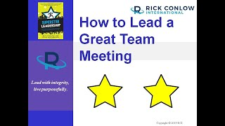 How to Lead a Great Team Meeting-Leadership Training