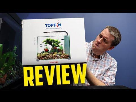 Petsmart Top Fin 5 Gallon Glass Aquarium $49.99 Unboxing Review!