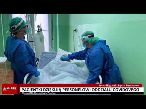 Wideo: Pacjentki dziękują personelowi oddziału covidowego w Głogowie