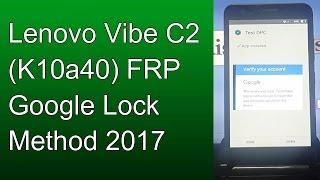 Lenovo Vibe C A2020a40 FRP Google Lock Remove Bypass 100