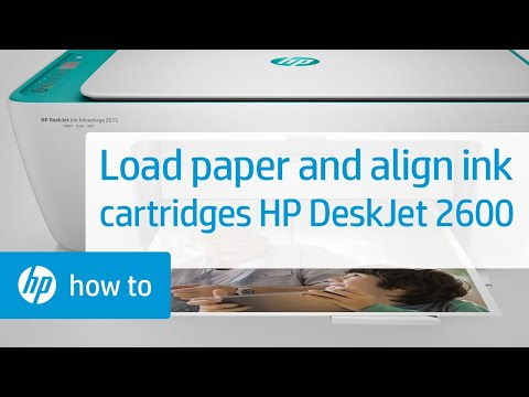 How To Load Paper and Align Setup Ink Cartridges in the HP DeskJet 2600 All-in-One Printer Series