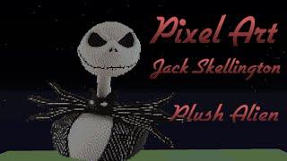 Minecraft Pixel Art SpeedBuild | Spooky Special | Jack Skellington