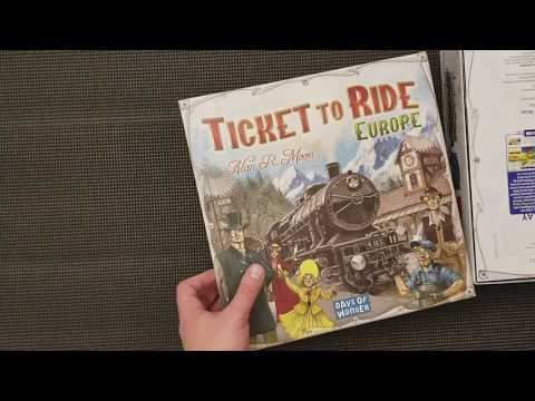Ticket to Ride Europe - Whats in the box?