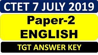 English_L2_Paper-2_Answer_key || Ctet 7 July 2019 | ADHYAYAN