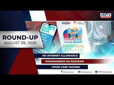 [UNTV]  UNTV NEWS ROUNDUP: Mga balitang dapat mong malaman (August 9, 2020)