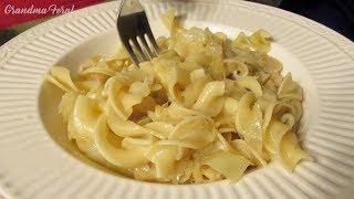 Haluski - Cabbage And Noodles - Depression Era Recipe - $1 Meal - Poor Man's Meal
