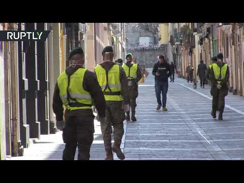 COVID-19 | Citizens protest against military presence in Pamplona