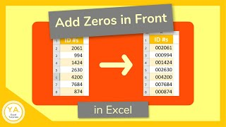 How to Add a Zero in Front of a Number in Excel - Tutorial