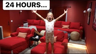 EVERLEIGH SPENDS 24 HOURS IN HER MOVIE THEATER!!!