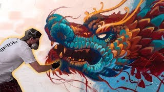 Epic Dragon Fantasy Mural + TShirt Drop!