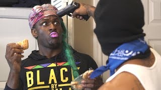 TiTi and LaLa get Robbed! @BLAMEITONKWAY @LALASIZAHANDS - Filmed by @JAYCLARK_HTX