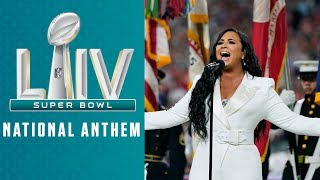 Demi Lovato Sings the National Anthem | Super Bowl LIV Pregame