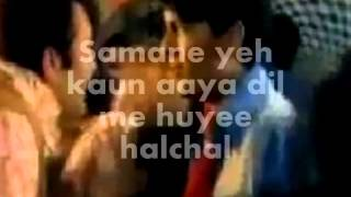 Samne Yeh Kaun Aaya-Karaoake & Lyrics-Jawani   - YouTube