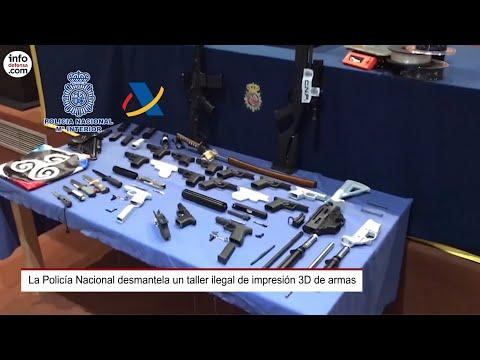 La Policía Nacional desmantela un taller ilegal de impresión 3D de armas