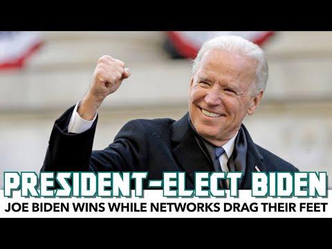 Joe Biden Wins While Networks Drag Their Feet