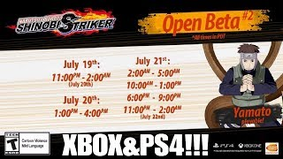 Naruto to Boruto Shinobi Striker Open Beta Dates and Times! PS4 and XBOX One!