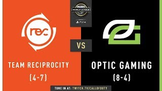 Team Reciprocity vs Optic Gaming | CWL Pro League 2019 | Division A | Week 7 | Day 2