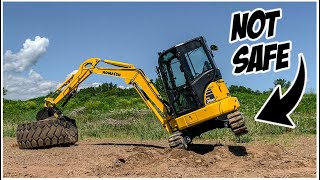 What NOT to do in a Mini Excavator | Heavy Equipment Operator