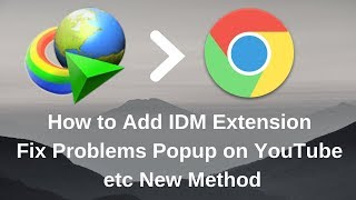 google chrome idm extension problem