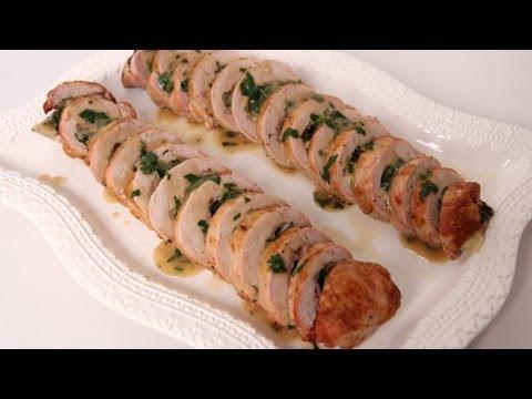 Prosciutto & Spinach Stuffed Pork Tenderloin – Laura Vitale – Laura in the Kitchen Episode 486