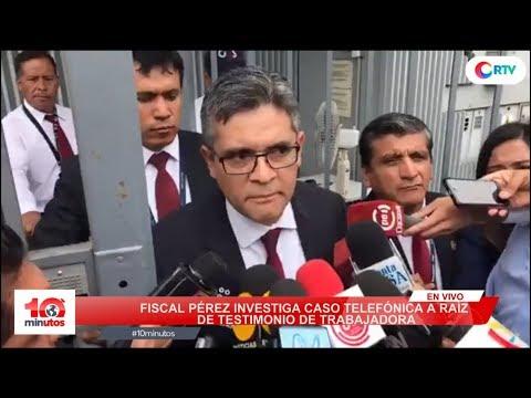 José Domingo Pérez realiza diligencia en local de Telefónica - 10 minutos Edición Tarde