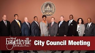 preview picture of video 'Fayetteville City Council Meeting - February 23, 2015'