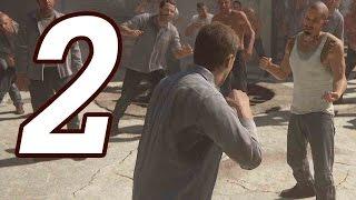 Uncharted 4: A Thiefs End Gameplay Walkthrough Part 2 - PRISON BRAWL!