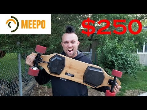 MEEPO Board Electric Skateboard Unboxing and Review.  $250 Boosted Board.