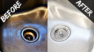 How To Clean Your Kitchen Sink & Disposal Naturally With Baking Soda & Vinegar - Easy & Organic