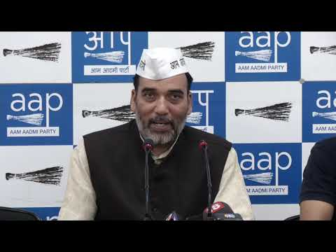 AAP Delhi Convenor Gopal Rai Briefs on the Full-statehood Protest at DPCC