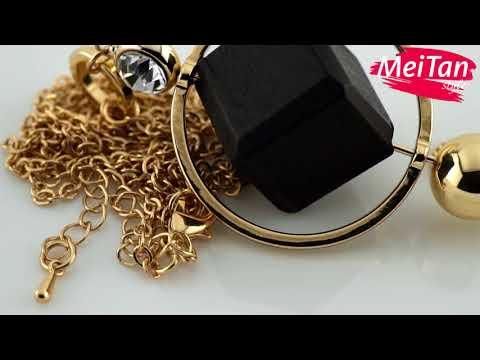 Колье «Элегантное аллегро» в золоте, 1 шт. MeiTan style MeiTan