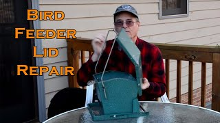 Bird Feeder Lid Repair