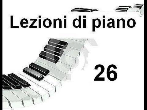 LEZIONE DI PIANOFORTE 26 -Il do centrale sulla tastiera e sul Pentagramma