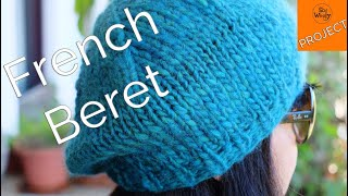 Super easy French Beret knitting pattern (ideal for beginners) - So Woolly