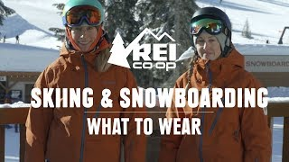 What to Wear Skiing and Snowboarding    REI