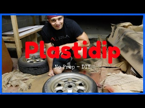 Plastidipping Wheels with No Prep - How To Plasti Dip Your Wheels No Masking