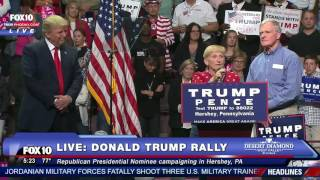 EMOTIONAL MOMENT: Donald Trump Invites Grieving Parents On Stage During Rally FNN