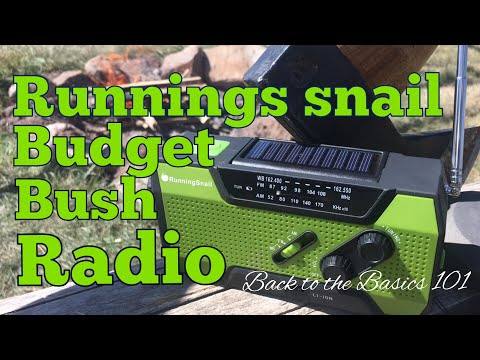 Budget Bush emergency radio review. Running snail.
