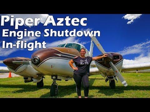Twin Piper Aztec - Engine Shutdown In-flight!