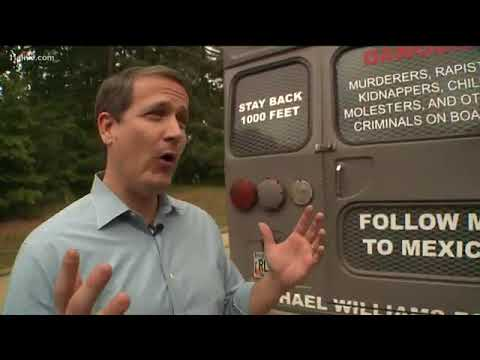 Download Deportation bus is latest stunt to win votes in Georgia's governor race HD Video
